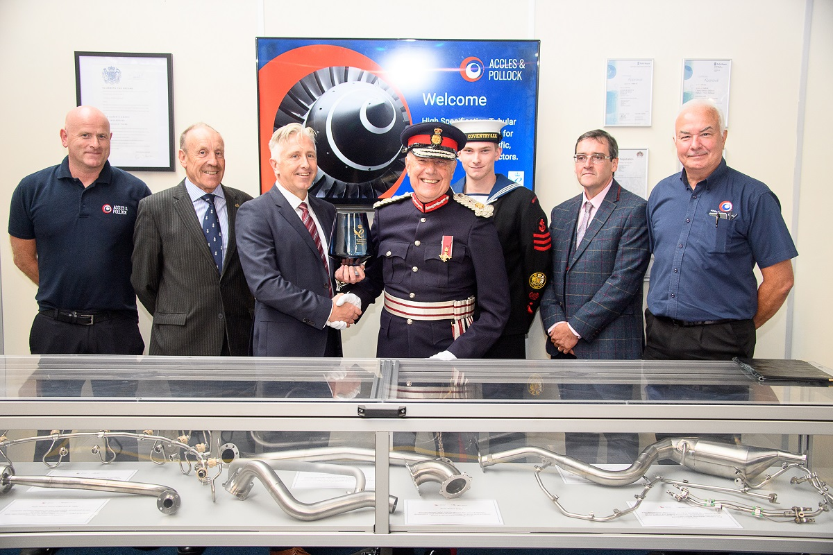 Smiling Accles & Pollock team receives its Queen's Award